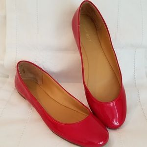 Nine West Red Patent Flats